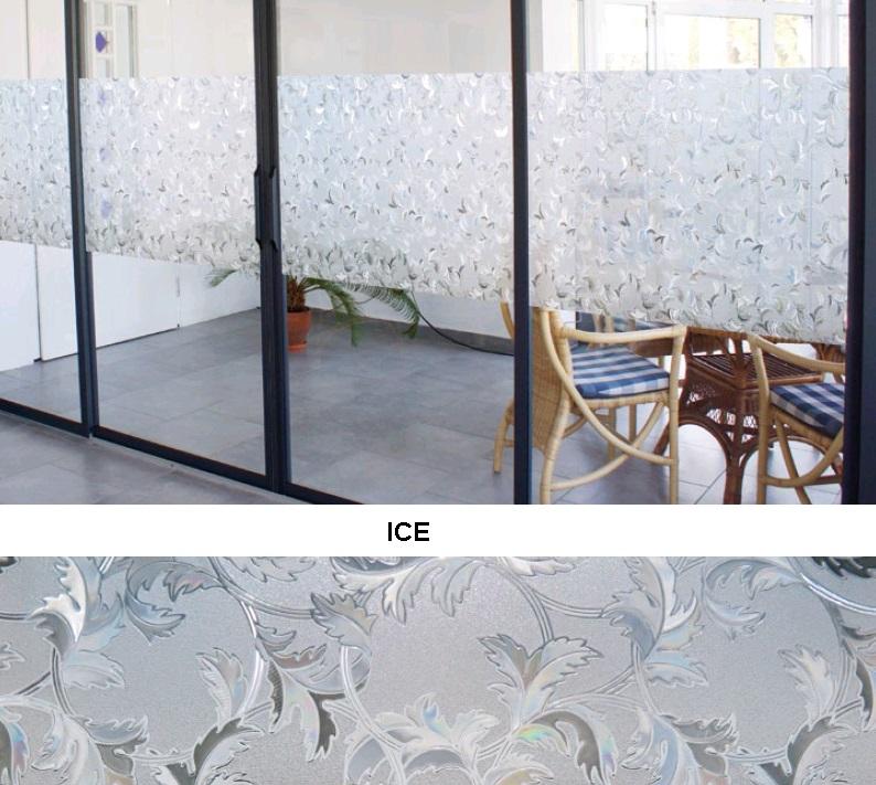 Декоративная статическая пленка Ice