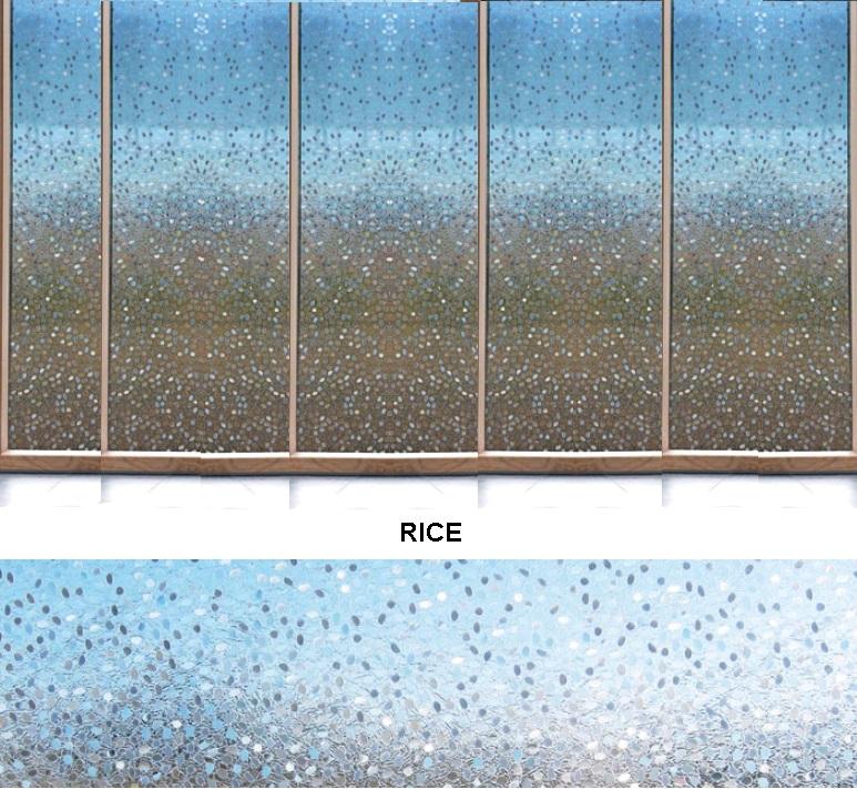 Декоративная статическая пленка Rice