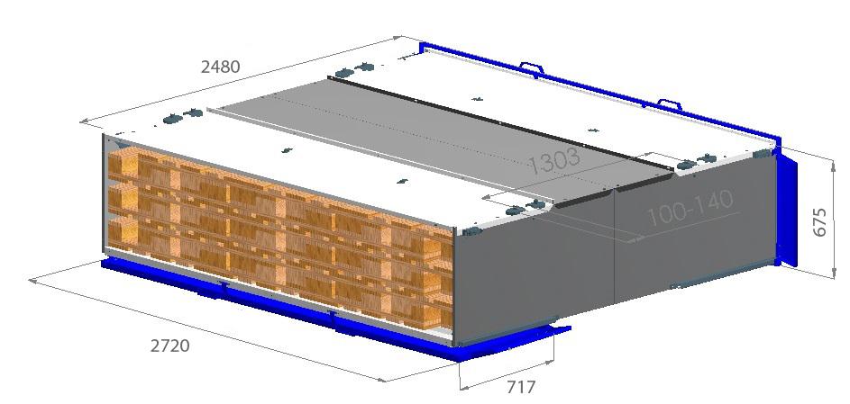 Ящик для перевозки 36 европаллет Bozamet Польша