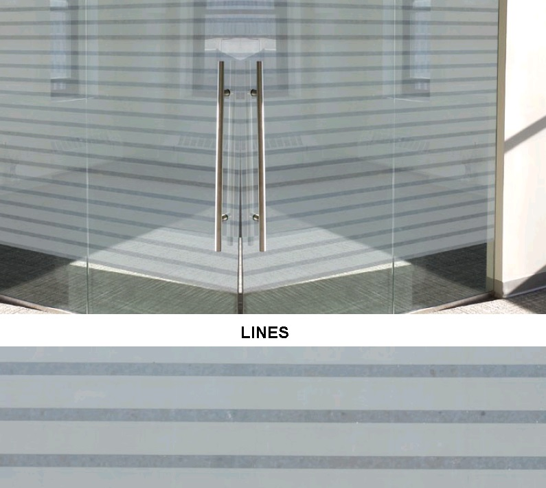 Декоративная статическая пленка Lines
