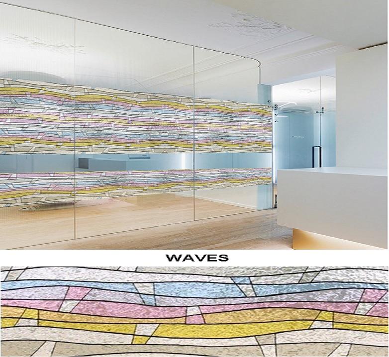Декоративная статическая пленка Waves