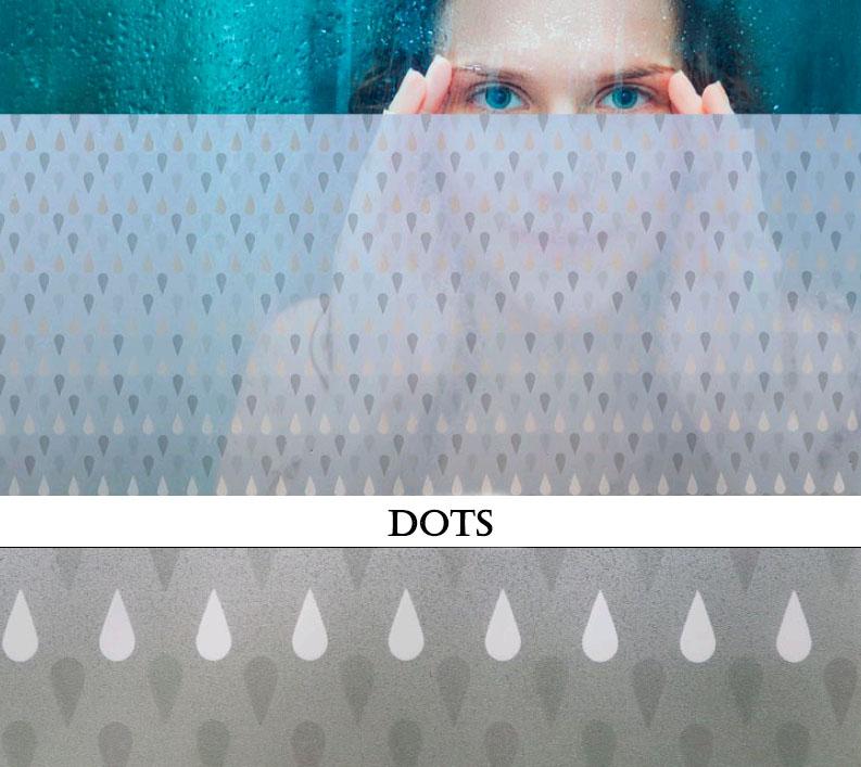 Декоративная статическая пленка Dots