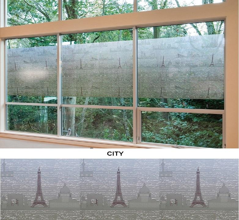 Декоративная статическая пленка City